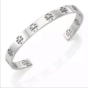 Tory Burch Silver Cuff Bangle Bracelet
